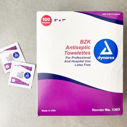 Benzalkonium Antiseptic Towelette